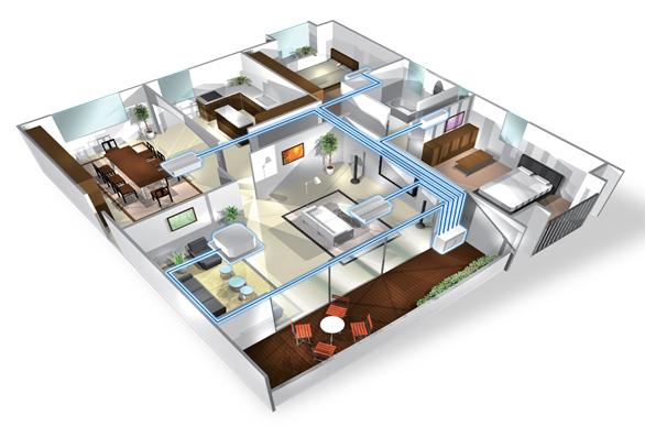 Tư vấn - thiết kế máy lạnh muti cho căn hộ,chung cư